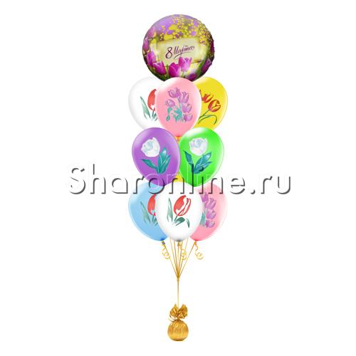 """Фото №1: Фонтан из шаров """"Тюльпаны"""" на 8 Марта"""