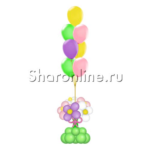 """Фото №1: Фонтан из шаров """"Весна"""""""