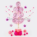 Фото №1: Фонтан на стойке с малиновым  конфетти