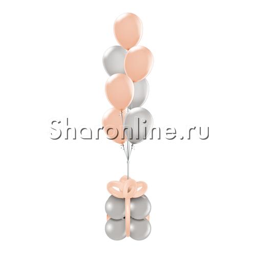 Фото №1: Фонтан-премиум из персиково-серых шаров