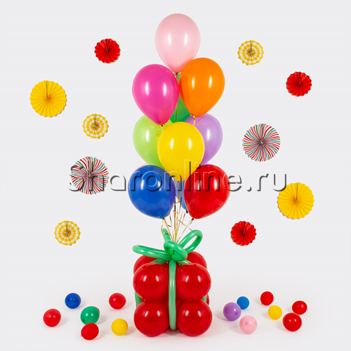 Фото №1: Фонтан-премиум из шаров ассорти