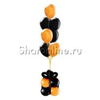 """Фонтан-премиум """"Оранжево-черные шары"""""""