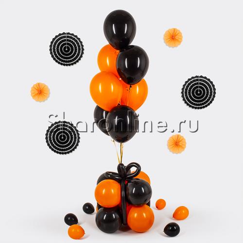 """Фото №1: Премиум-фонтан """"Оранжево-черные шары"""""""