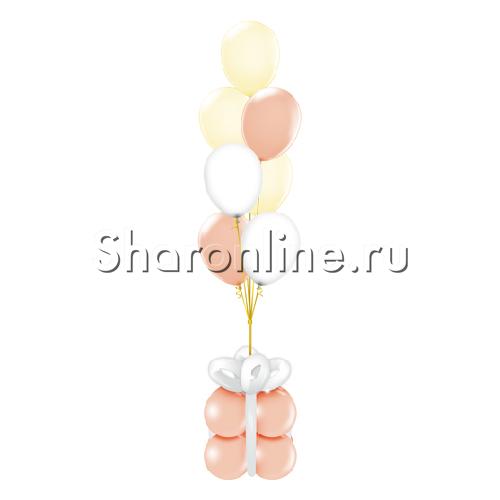"""Фото №1: Фонтан из шаров """"Ванильный восторг"""""""