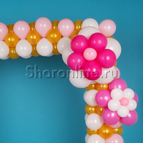 """Фото №3: Фоторамка из шаров """"Барокко"""""""