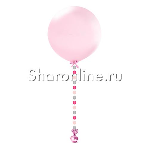 """Фото №1: Гигантский шар розовый с подвеской """"Розовый микс"""""""