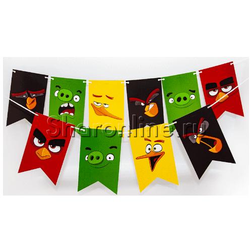 """Фото №1: Гирлянда """"Angry Birds"""" 180 см"""