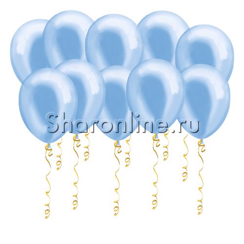 Фото №1: Голубые шары металлик