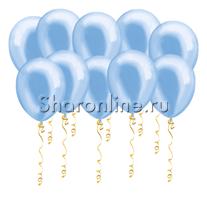 Голубые шары металлик