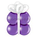 """Фото №1: Грузик в виде подарка """"Фиолетовый с белым"""""""