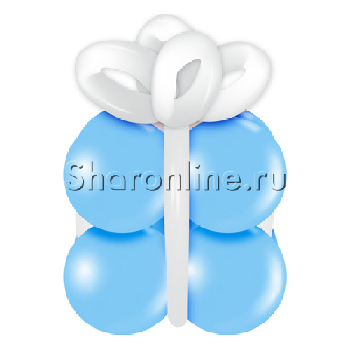 """Фото №1: Грузик в виде подарка """"Голубой с белым"""""""