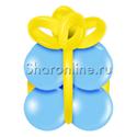 """Фото №1: Грузик в виде подарка """"Голубой с желтым"""""""