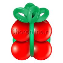 """Грузик в виде подарка """"Красный с зеленым"""""""