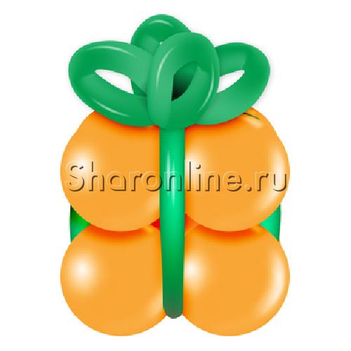 """Фото №1: Грузик в виде подарка """"Оранжевый с зеленым"""""""