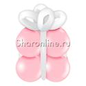 """Фото №1: Грузик в виде подарка """"Розовый с белым"""""""
