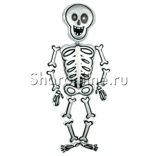 "Фото №1: Ходячая фигура ""Скелет Мистер Скелли"" 193 см"