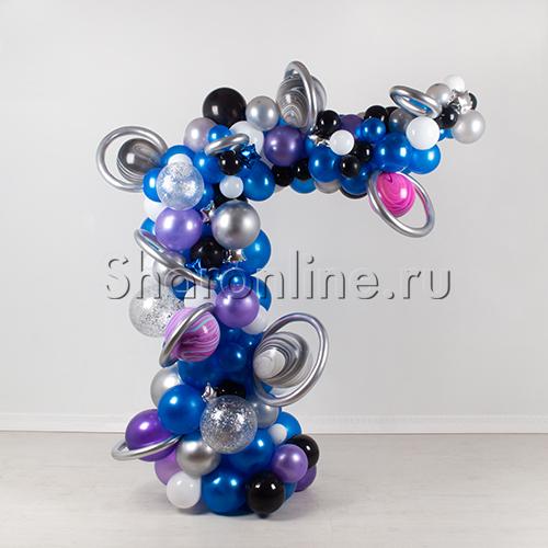 """Фото №1: Инсталляция из шаров """"Галактика"""""""