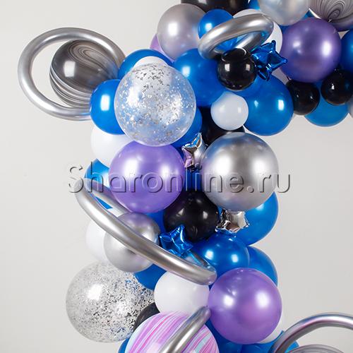 """Фото №3: Инсталляция из шаров """"Галактика"""""""
