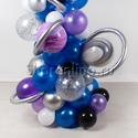"""Фото №4: Инсталляция из шаров """"Галактика"""""""