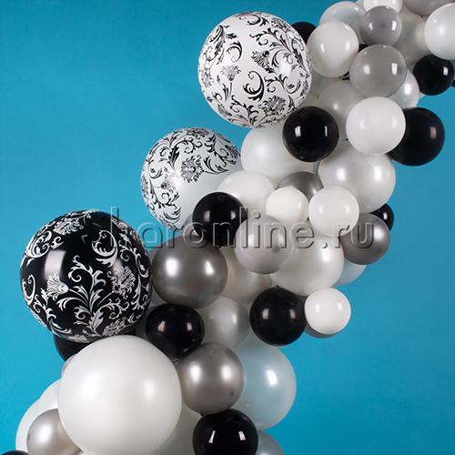 """Фото №2: Инсталляция из шаров """"Изысканная дата"""""""