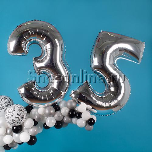 """Фото №3: Инсталляция из шаров """"Изысканная дата"""""""
