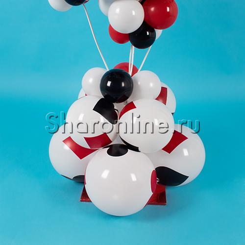 """Фото №3: Композиция из шаров """"Карточная масть"""""""