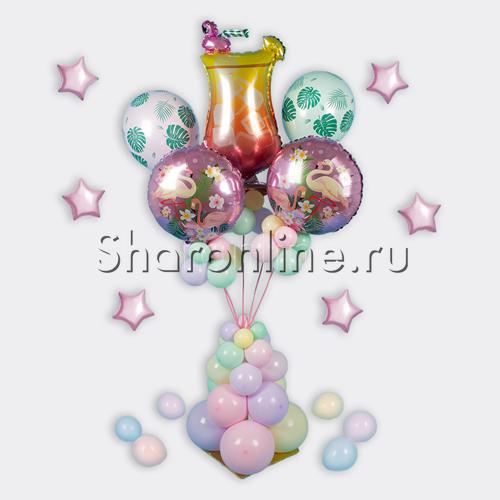 """Фото №2: Композиция из шаров """"Розовый фламинго"""""""