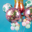 """Фото №3: Композиция из шаров """"Розовый фламинго"""""""