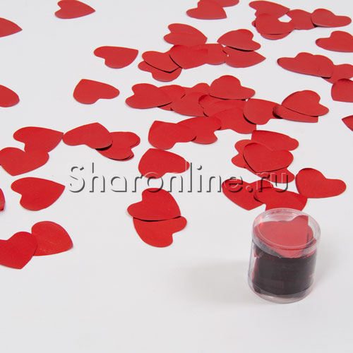 "Фото №1: Конфетти ""Сердце"" красное 60 гр"