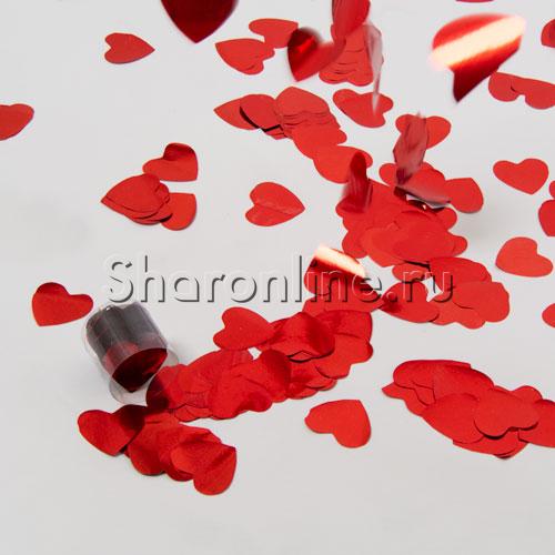 "Фото №2: Конфетти ""Сердце"" красное 60 гр"