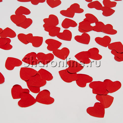 "Фото №3: Конфетти ""Сердце"" красное 60 гр"