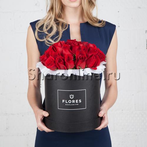 Фото №1: Коробка Classic Black с красными розами