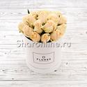 Фото №2: Коробка Mini White с кремовыми розами