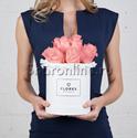 Фото №1: Коробка Mini White с розовыми розами