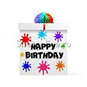 """Фото №1: Коробка-сюрприз """"HAPPY BIRTHDAY"""" без шаров"""