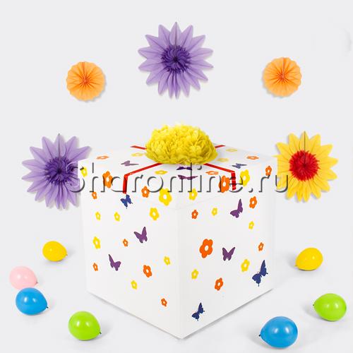 """Фото №1: Коробка-сюрприз """"Bubble весенний в ромашках"""""""