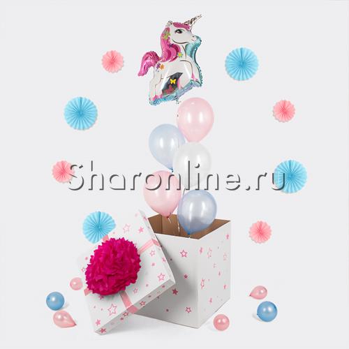 """Фото №2: Коробка-сюрприз """"Единорог"""""""