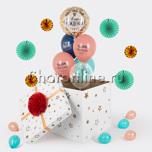 """Фото №2: Коробка-сюрприз """"Поздравляю с днем рождения"""""""