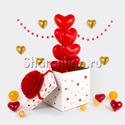Фото №1: Коробка-сюрприз с сердцами 30см