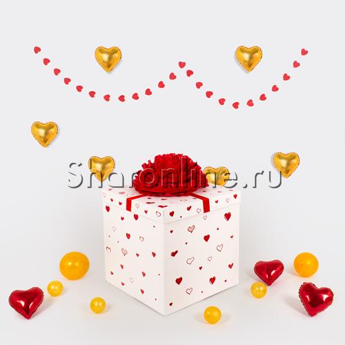 Фото №2: Коробка-сюрприз с сердцами 30см