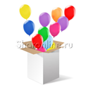Фото №1: Коробка сюрприз с воздушными шариками