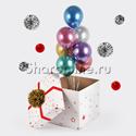 Фото №2: Коробка-сюрприз с шарами хром ассорти