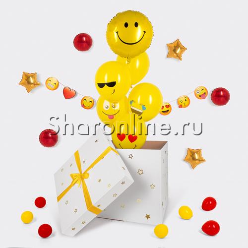 """Фото №2: Воздушные шары в коробке """"Веселые эмоции"""""""