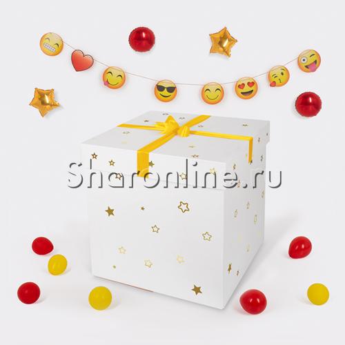 """Фото №1: Воздушные шары в коробке """"Веселые эмоции"""""""