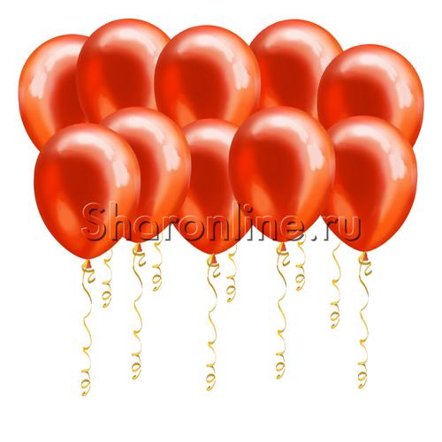 Фото №1: Красные шары металлик