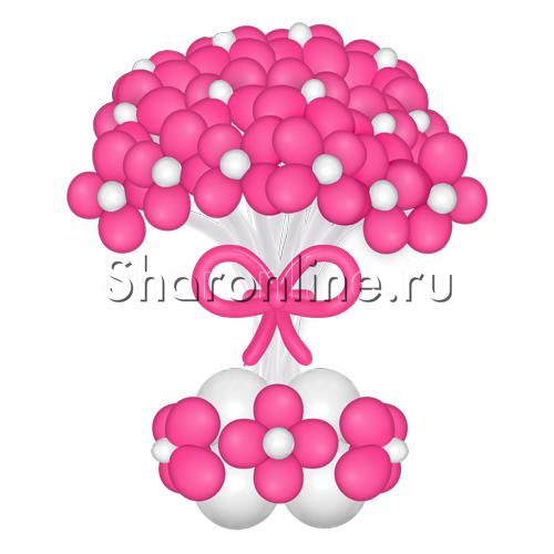 Фото №1: Малиновые цветы из шаров в вазе