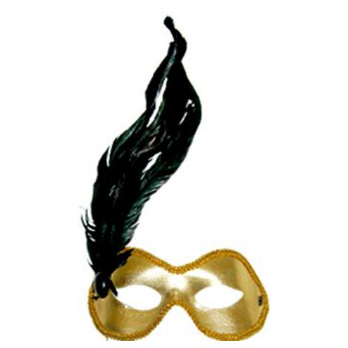Фото №1: Маска золотая с пером