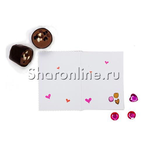 "Фото №2: Мини-Открытка ""Для тебя"" конфеты 60х85 мм"