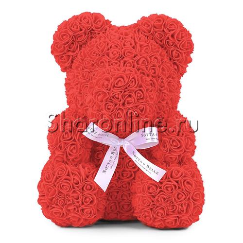 Фото №1: Мишка из роз Красный 35 см