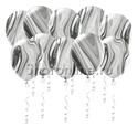 Фото №1: Мраморные черно-белые шары